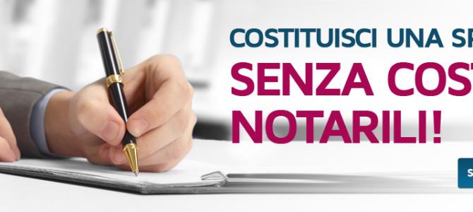 Costituzione di Srl semplificata senza pagamento di onorari notarili